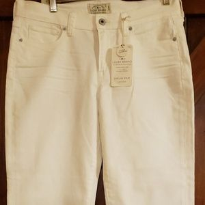 Lucky Brand Mollie Crop White Jeans Sz 10/30 NWT